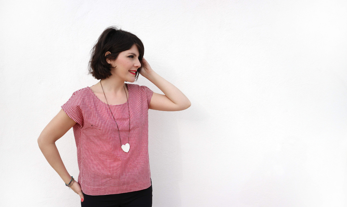 La blusa Chantilly di The Yellow Peg