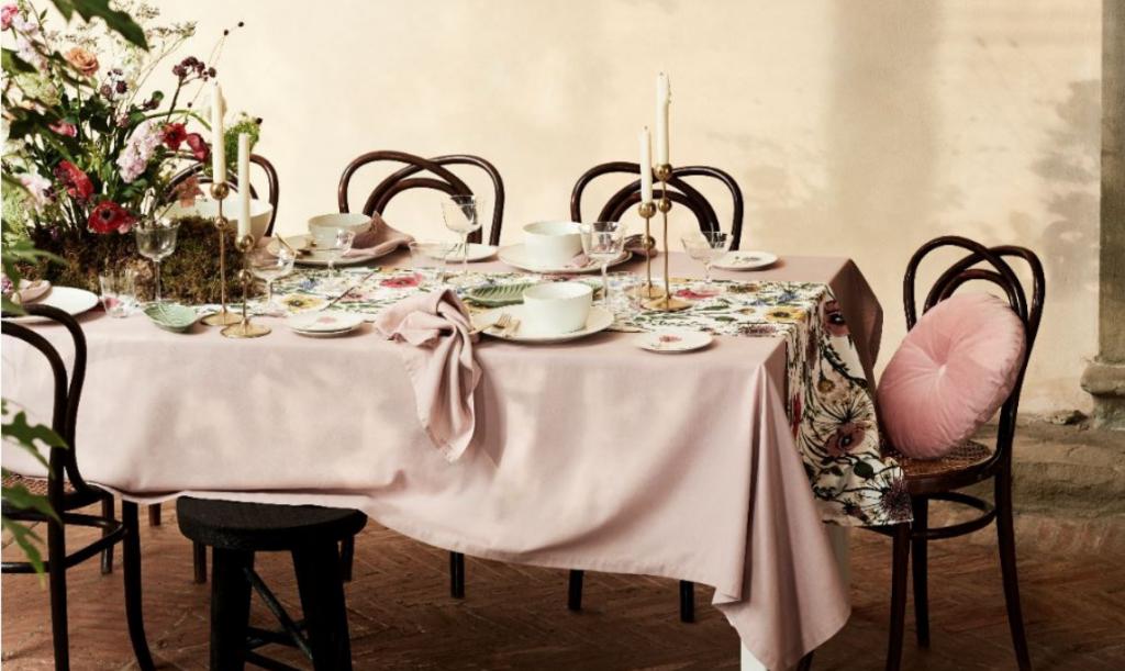 Gciletta_tessili_per_la_casa_H&M_home_tavola_tovaglia_secret_garden