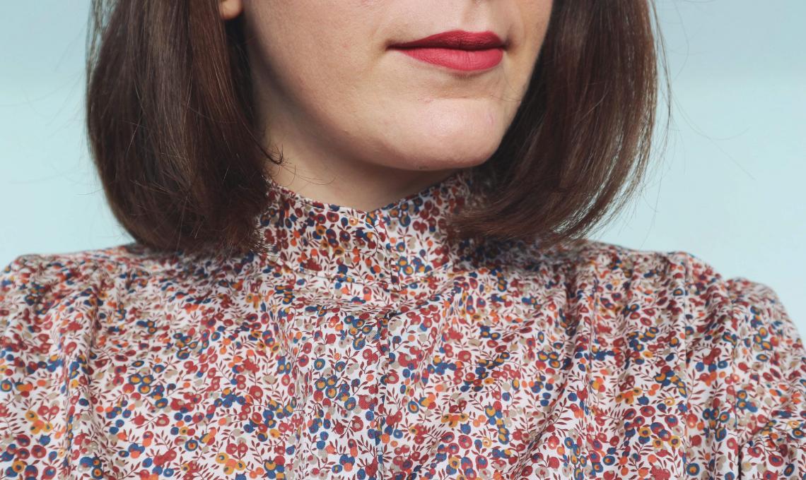 GCiletta_rocchettiepois_armadio_sostenibile_thea_boho_sleeve_shirt_camicia_ever_lipstick